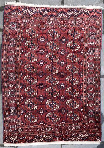 Antique Tekke Turkman rug 190x137cm (1 of 6)