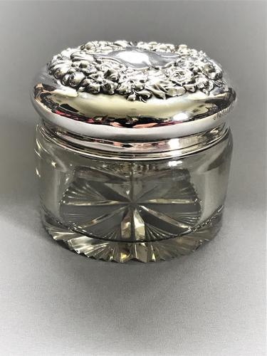 Sterling Silver Topped Dressing Table Jar (1 of 8)