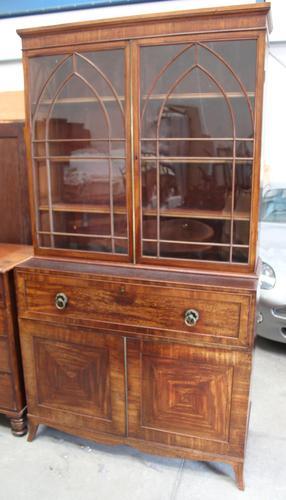 Large Mahogany Regency Secretaire Bookcase c.1820 (1 of 7)