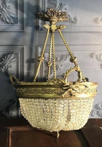 Brass Basket Shaped Light Fitting (1 of 11)