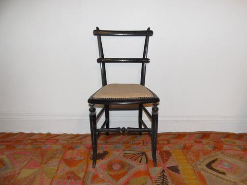 Ebonised Victorian Chair (1 of 10)