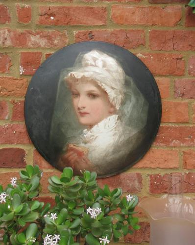 Florence Ann Claxton '1838-1920' - Confirmation in 1700, Painted Pottery Plaque (1 of 6)