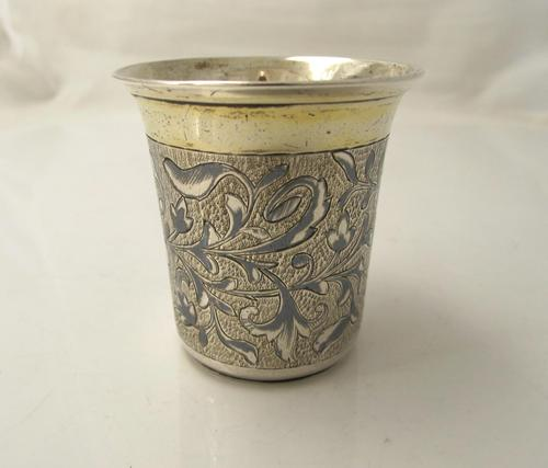 Imperial Russian Silver Gilt & Niello Tot Beaker, фм Moscow 1846 (1 of 6)