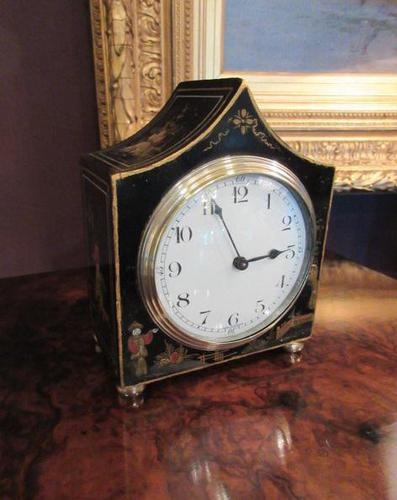 Small Antique Chinoiserie Gilt Mantel Clock (1 of 7)