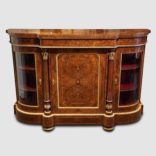 Fine Victorian Inlaid Walnut Credenza (1 of 15)