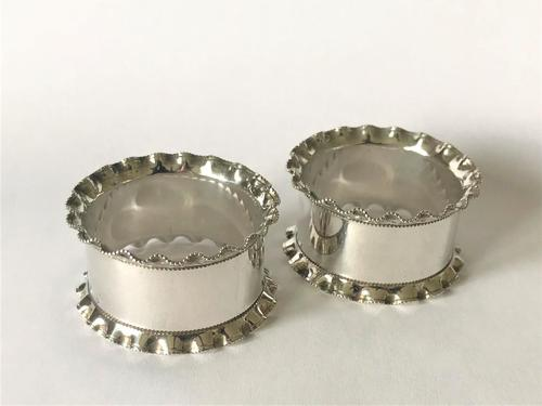 Pair of Edwardian Silver Plated Napkin Rings (1 of 3)