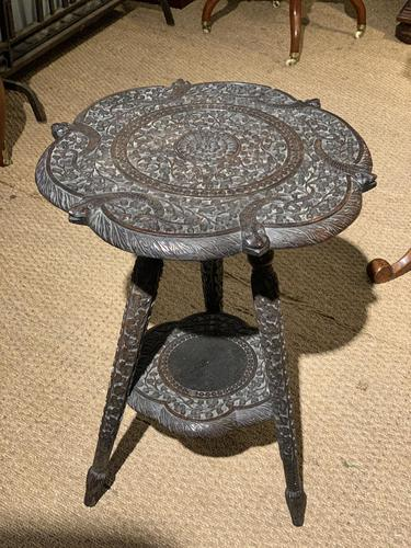 Late 19th Century Indian Lamp Table (1 of 8)