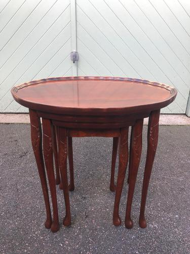 Antique Mahogany Nest of 3 Tables (1 of 8)