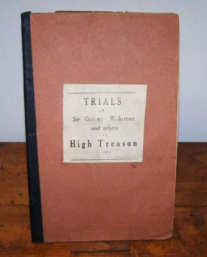 Trials of Sir George Wakeman and others for High Treason to The King 1679, 1st Edition (1 of 4)