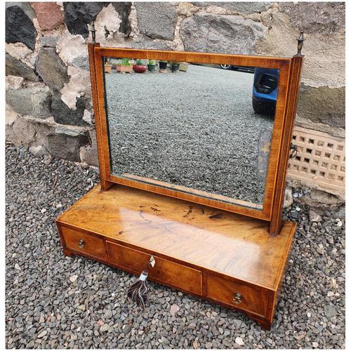 Georgian Mahogany & Inlaid Toilet Mirror (1 of 6)