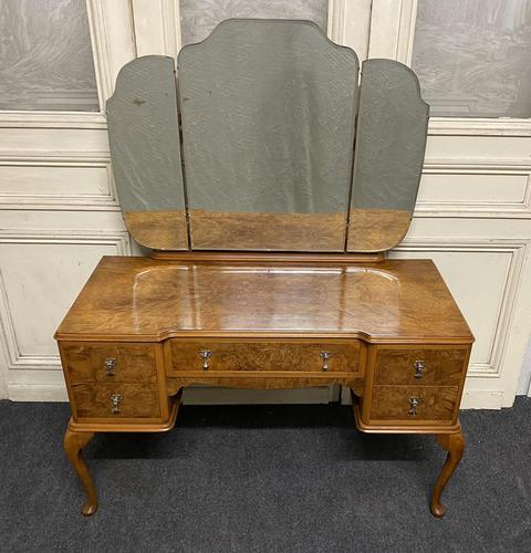 Antique Queen Anne Burr Walnut Dressing Table (1 of 16)