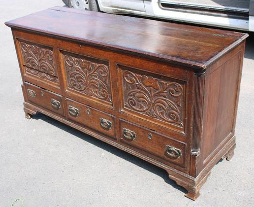 1900's Oak 3 Drawer Mule Chest of Drawers (1 of 5)