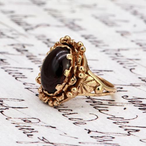 The Vintage Ornate Set Cabochon Ring (1 of 6)