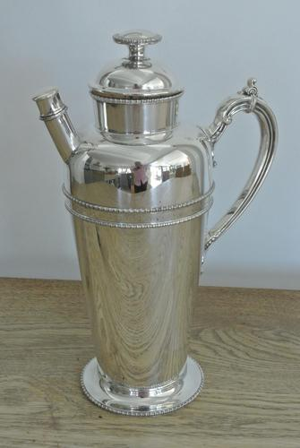 Fine Art Deco American Style Silver-plated Cocktail Shaker by Barker Brothers c.1930 (1 of 9)