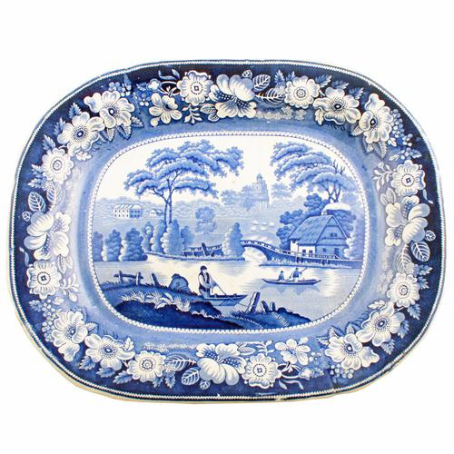 """""""Wild Rose"""" Pattern Meat Plate (1 of 7)"""