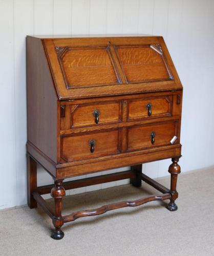 Solid Golden Oak Bureau (1 of 10)