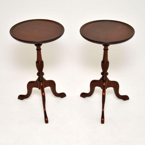 Pair of Antique Georgian Style Mahogany Wine Tables (1 of 6)
