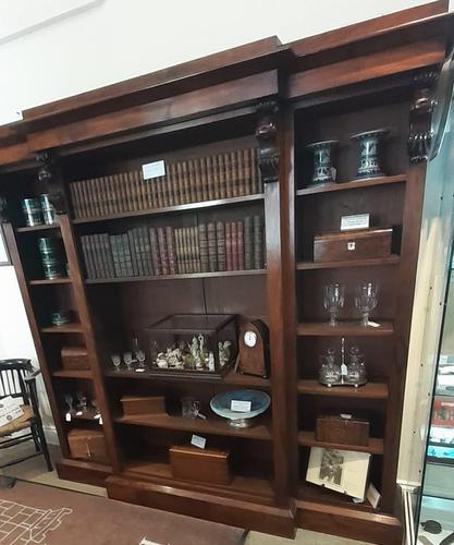 Mahogany Breakfront Bookshelf (1 of 7)