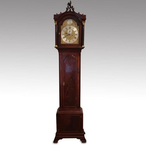 Antique Mahogany Longcase Clock (10100) (1 of 12)