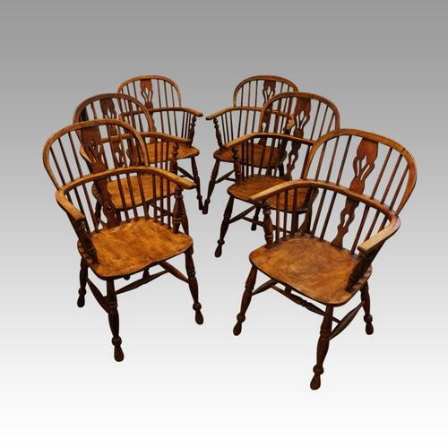 Set of 6 19th Century Windsor Armchairs (1 of 6)