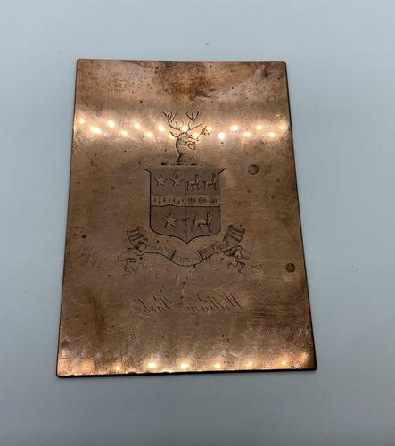 19th Century Copper Plate - Parke Family (1 of 2)