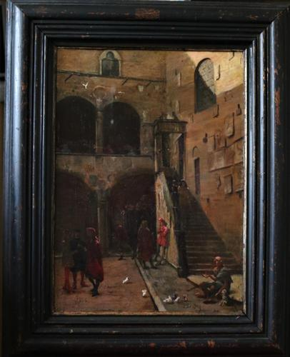 Beggar in a Continental Courtyard 17th Century (1 of 8)