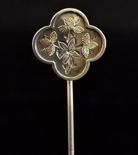 Antique Victorian Silver Stick Pin, Aesthetic Era (1 of 12)