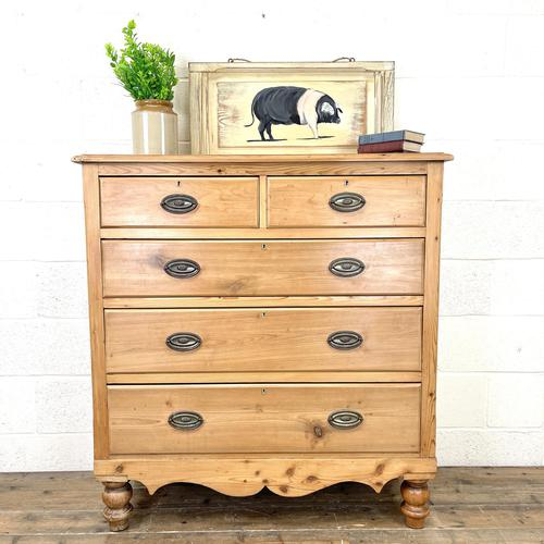 Victorian Pine Chest of Drawers (1 of 9)