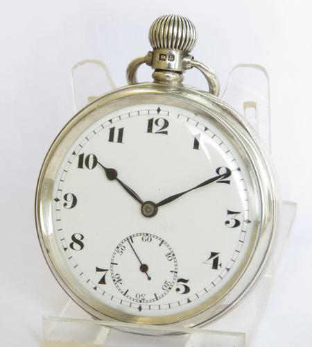 Silver Record Pocket Watch 1935 (1 of 5)