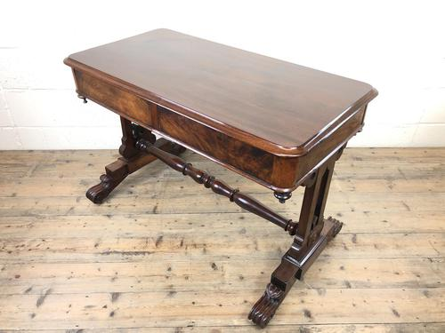 Antique William IV Mahogany Side Table (1 of 16)