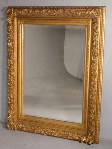 Good Late 19th Century Rectangular Giltwood Mirror (1 of 4)