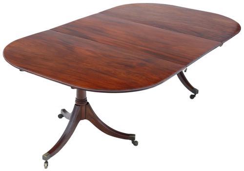 Regency c.1830 Mahogany Extending Dining Table Pedestal 19th Century (1 of 11)