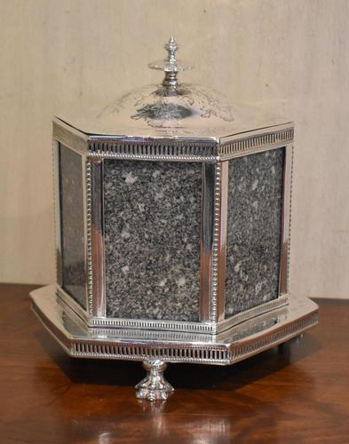 Fine Victorian Silver Plate Biscuit Box or Barrel (1 of 9)