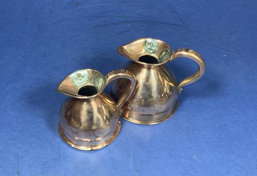 Pair of Victorian Copper Spirit Measures (1 of 8)