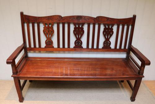 Edwardian Style Mahogany Bench (1 of 11)