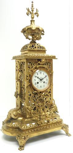 Monumental French Ormolu Mantel Clock Huge Classic 8 Day Striking Mantle Clock (1 of 14)