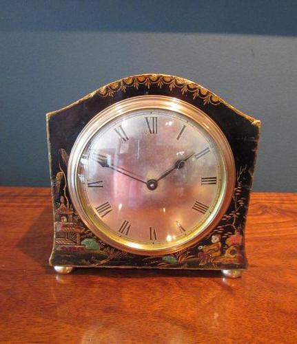 Small Edwardian Chinioserie Mantel Clock (1 of 8)