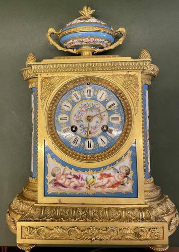 Fine Quality French Ormolu & Porcelain-mounted Mantel Clock by J.B. Delettrez (1 of 5)