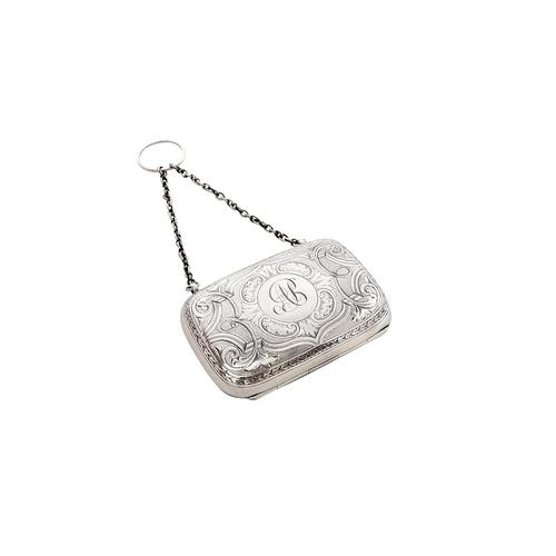 Antique Victorian Sterling Silver Purse 1893 (1 of 8)
