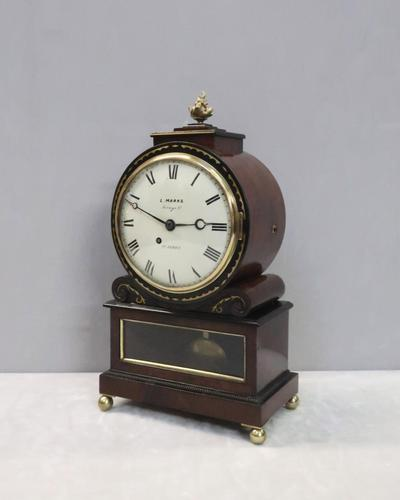 English George IV Mahogany Bracket Clock by L.Marks (1 of 8)