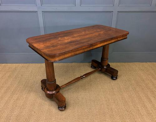 Good William IV Rosewood Library Stretcher Table (1 of 12)