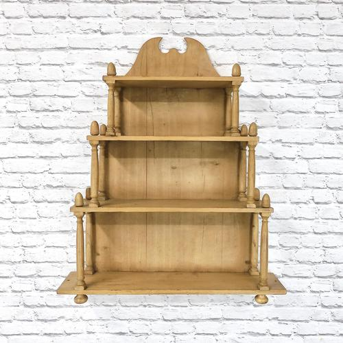 Victorian Pine Wall Shelves (1 of 4)