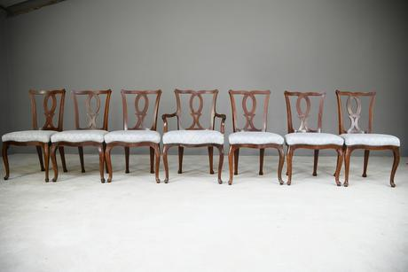 Set of 6 + 1 Continental Dining Chairs (1 of 12)