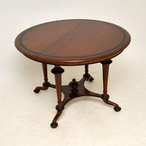 Antique Victorian Walnut Dining Table (1 of 8)
