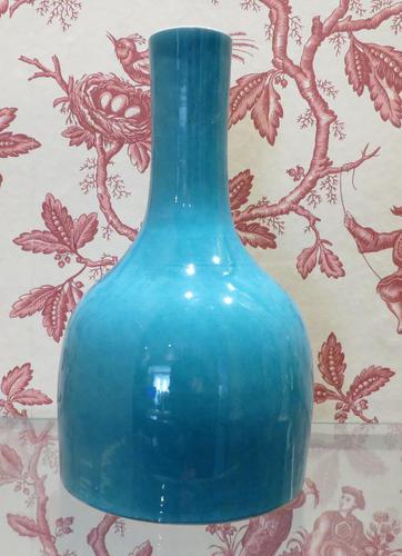 Chinese Turquoise Glaze Mallet Shape Vase 6 Character Mark (1 of 7)