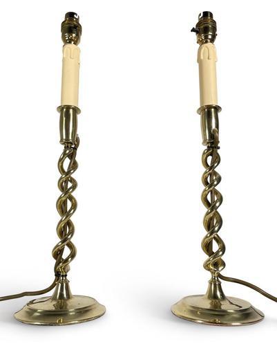 Pair of Wrythen Twist Lamps (1 of 5)