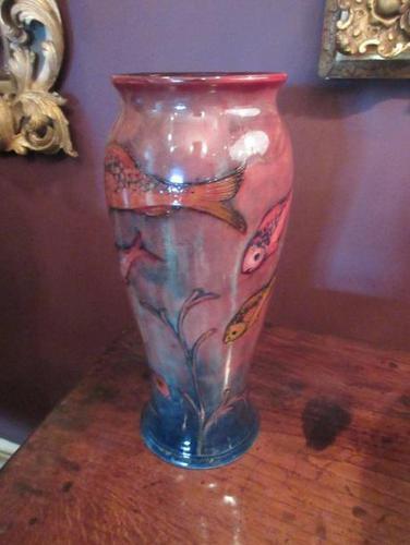 Rare Moorcroft Flambe Glazed Fishes Vase (1 of 9)