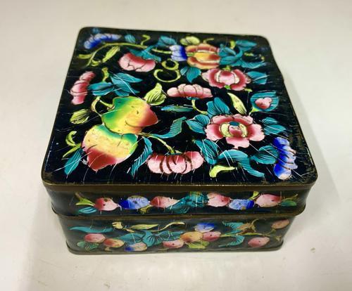 Antique Oriental Cloisonné Enamel Box c.1890 (1 of 8)