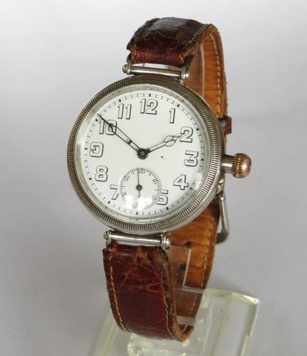 Antique Silver Longines Trench Watch 1918 (1 of 5)