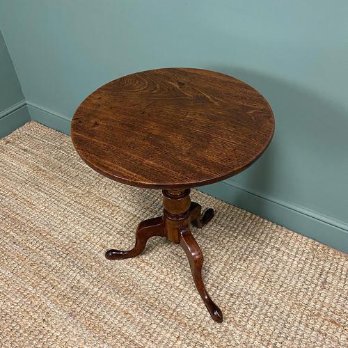 Quality Georgian Cuban Mahogany Antique Tilt Top Tripod Occasional / Lamp Table (1 of 7)